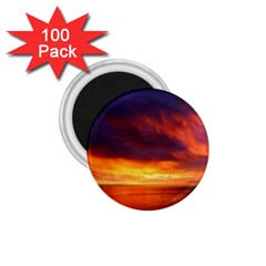 Sunset The Pacific Ocean Evening 1 75  Magnets (100 Pack)