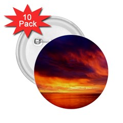 Sunset The Pacific Ocean Evening 2 25  Buttons (10 Pack)