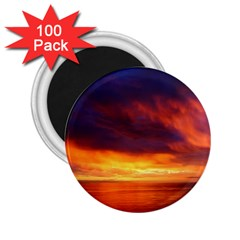 Sunset The Pacific Ocean Evening 2 25  Magnets (100 Pack)
