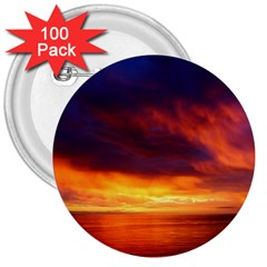 Sunset The Pacific Ocean Evening 3  Buttons (100 Pack)