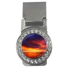 Sunset The Pacific Ocean Evening Money Clips (cz)