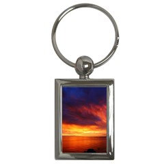 Sunset The Pacific Ocean Evening Key Chains (rectangle)