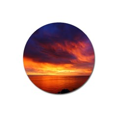 Sunset The Pacific Ocean Evening Magnet 3  (round)