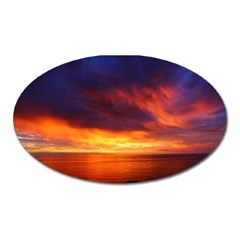 Sunset The Pacific Ocean Evening Oval Magnet