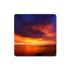 Sunset The Pacific Ocean Evening Square Magnet