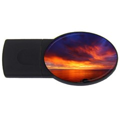 Sunset The Pacific Ocean Evening USB Flash Drive Oval (2 GB)