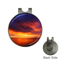 Sunset The Pacific Ocean Evening Hat Clips With Golf Markers