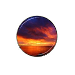 Sunset The Pacific Ocean Evening Hat Clip Ball Marker