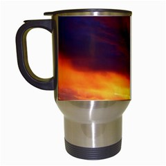 Sunset The Pacific Ocean Evening Travel Mugs (white)