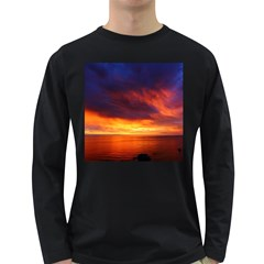 Sunset The Pacific Ocean Evening Long Sleeve Dark T Shirts
