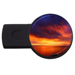Sunset The Pacific Ocean Evening Usb Flash Drive Round (4 Gb)