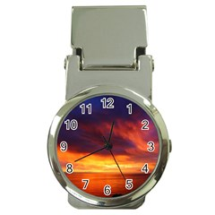 Sunset The Pacific Ocean Evening Money Clip Watches