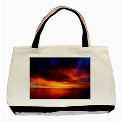Sunset The Pacific Ocean Evening Basic Tote Bag