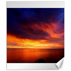 Sunset The Pacific Ocean Evening Canvas 8  X 10