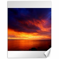 Sunset The Pacific Ocean Evening Canvas 12  X 16
