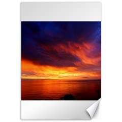 Sunset The Pacific Ocean Evening Canvas 12  X 18