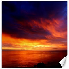 Sunset The Pacific Ocean Evening Canvas 16  X 16