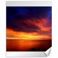 Sunset The Pacific Ocean Evening Canvas 16  X 20
