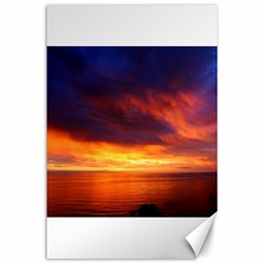 Sunset The Pacific Ocean Evening Canvas 24  X 36