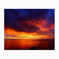 Sunset The Pacific Ocean Evening Small Glasses Cloth (2 Side)