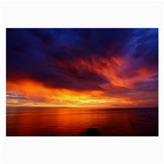 Sunset The Pacific Ocean Evening Large Glasses Cloth (2 Side)