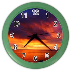Sunset The Pacific Ocean Evening Color Wall Clocks