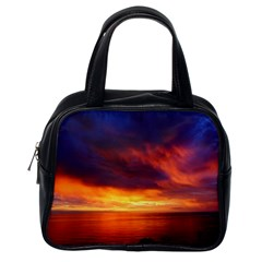 Sunset The Pacific Ocean Evening Classic Handbags (one Side)
