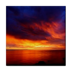 Sunset The Pacific Ocean Evening Face Towel
