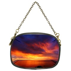 Sunset The Pacific Ocean Evening Chain Purses (two Sides)