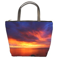 Sunset The Pacific Ocean Evening Bucket Bags
