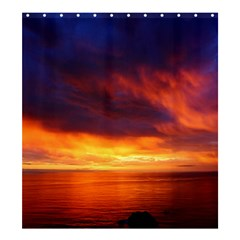 Sunset The Pacific Ocean Evening Shower Curtain 66  X 72  (large)