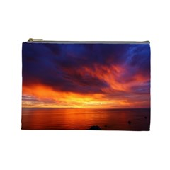 Sunset The Pacific Ocean Evening Cosmetic Bag (large)