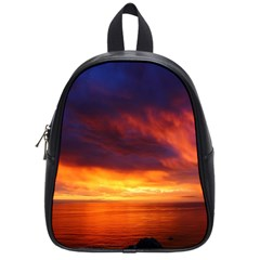 Sunset The Pacific Ocean Evening School Bags (small)