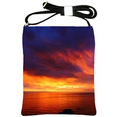 Sunset The Pacific Ocean Evening Shoulder Sling Bags