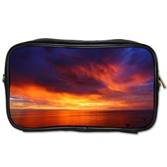 Sunset The Pacific Ocean Evening Toiletries Bags