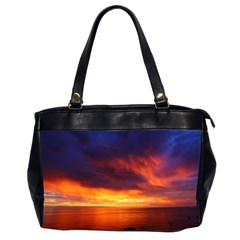 Sunset The Pacific Ocean Evening Office Handbags (2 Sides)