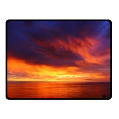 Sunset The Pacific Ocean Evening Fleece Blanket (small)