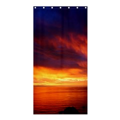 Sunset The Pacific Ocean Evening Shower Curtain 36  X 72  (stall)