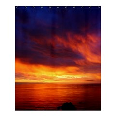 Sunset The Pacific Ocean Evening Shower Curtain 60  x 72  (Medium)