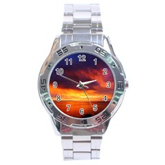 Sunset The Pacific Ocean Evening Stainless Steel Analogue Watch