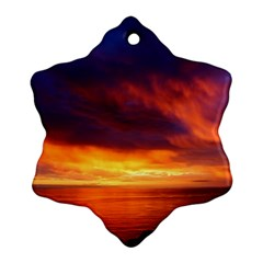 Sunset The Pacific Ocean Evening Ornament (snowflake)