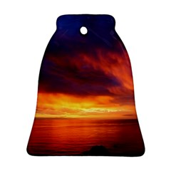 Sunset The Pacific Ocean Evening Bell Ornament (2 Sides)