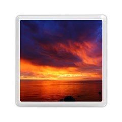 Sunset The Pacific Ocean Evening Memory Card Reader (square)