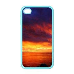 Sunset The Pacific Ocean Evening Apple Iphone 4 Case (color)