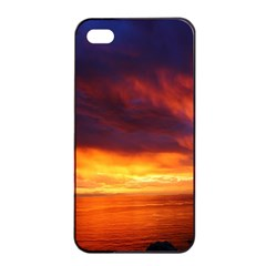 Sunset The Pacific Ocean Evening Apple Iphone 4/4s Seamless Case (black)