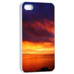 Sunset The Pacific Ocean Evening Apple iPhone 4/4s Seamless Case (White)
