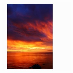 Sunset The Pacific Ocean Evening Small Garden Flag (two Sides)