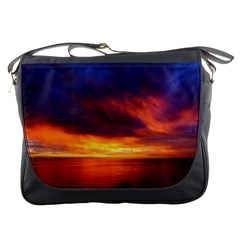 Sunset The Pacific Ocean Evening Messenger Bags