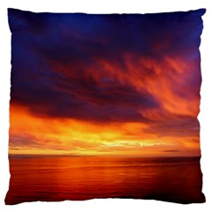 Sunset The Pacific Ocean Evening Large Cushion Case (one Side)