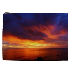 Sunset The Pacific Ocean Evening Cosmetic Bag (xxl)